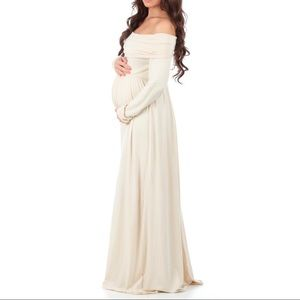 Mother Bee Cowl/Over The Shoulder Maternity Dress